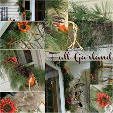 fall garland fall front porch decorating hoosier