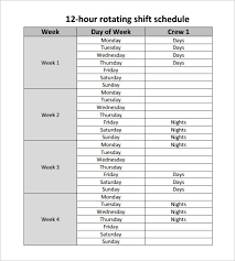 Excel Shift Schedule Template Shift Schedule Template Free Employee Shift Schedule Template For