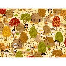 quilting treasures thanksgiving quilt fabric pilgrims