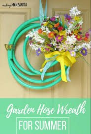 garden hose wreath for summer making manzanita