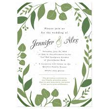 wedding invitations greenery classic greenery plantable wedding invitation plantable wedding