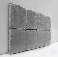 Silver Velvet Headboard by 4ft Small Double Headboards And Footboards Ebay