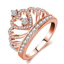 crown rings images Similanka rings women 18k rose gold plated aaa cubic jpg
