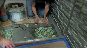 stratastones pebble tile on diy pebble tile spa shower