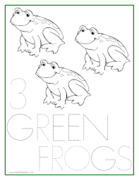 Numbers Coloring Sheets 1 5 Number 3 Coloring Page