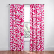 Zebra Print Curtain Panels Curtains Eclipse Curtains Colin Curtain Panel With Wooden