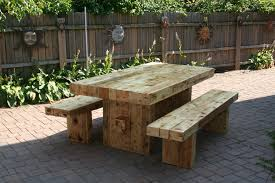 outdoor wooden tables and benches 27 simplistic furnishing on