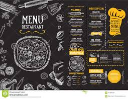 flyer menu template restaurant cafe menu template design food flyer stock vector