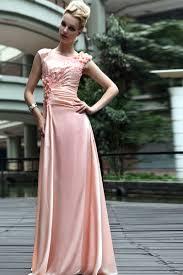 high neck vintage coral prom dress with flowers dekoltesiz
