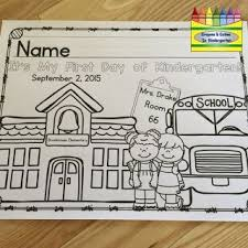 free editable coloring page for the first day of preschool