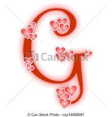 stock illustration of love letter alphabet g love alphabet
