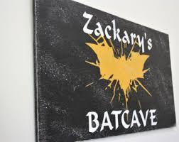 Batman Boys Bedroom Batman Sign Etsy