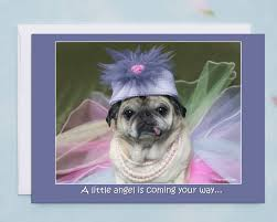 happy birthday card a little angel cute birthday card by pugs