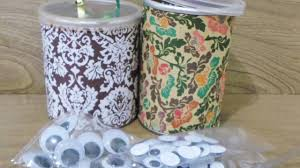 how to make cute pringle can art supply containers diy home