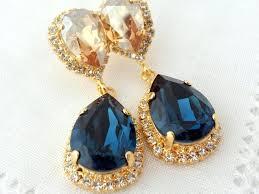 teardrop chandelier earrings chandelier drop earrings teardrop painted orange