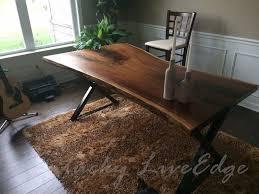 Modern Rustic Desk Your Custom Desk Live Edge Desk Industrial Desk Rustic Desk