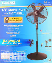 18 4 speed stand fan with remote control model s18601 lasko 18 stand fan with remote control black walmart com