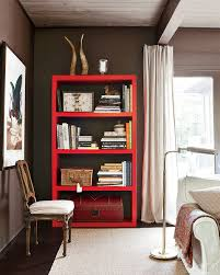 remodelaholic get this look stylish library of open shelving