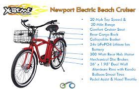 Most Comfortable Beach Cruiser Seat X Treme E Bike Newport 24v Electric Beach Cruiser