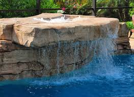rock waterfalls for pools add on features cullen pools ltd