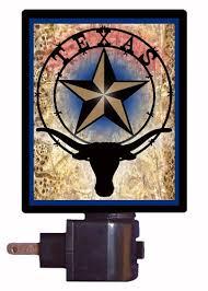 Texas Star Bathroom Accessories by Texas Night Light Texas Star And Longhorn Amazon Com