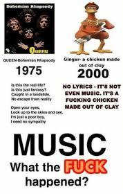 bohemian rhapsody ueen queen bohemian rhapsody ginger a chicken