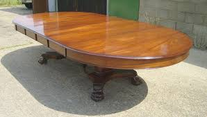 Antique Round Oak Pedestal Dining Table Large Round Extending Dining Table Uk Starrkingschool