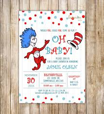 dr seuss baby shower invitation dr seuss cat in the hat party