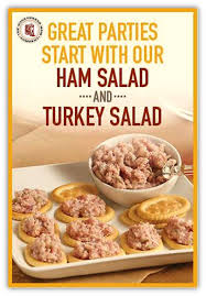 try our delicious honeybaked ham or turkey salad today