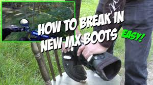 maverik motocross boots how to break in new mx boots youtube