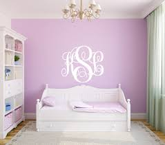 monogram wall decals for nursery vine monogram for room wall decor vinyl decal sticker