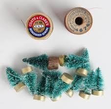 vintage bottle brush tree decorations adirondack heart