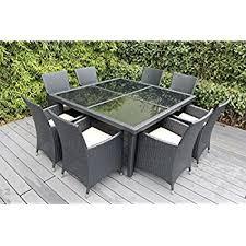 Free Patio Furniture Amazon Com Genuine Ohana Outdoor Patio Wicker Furniture 9pc All