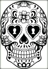 printable coloring pages sugar skulls keyhole sugar skull printable sheets color keyhole sugar skull