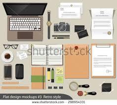 Office Desk Essentials Vector Flat Design Concept Mockup Office Stock Vector 298954331