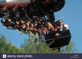 Six Flags X2 Six Flags Magic Mountain Roller Coaster Stockfotos U0026 Six Flags