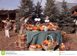 pilgrims at thanksgiving table editorial photography image 56950727