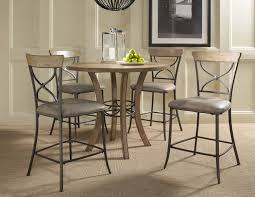 hillsdale charleston round counter height table 4670ctb table w charleston x back stools magnifier