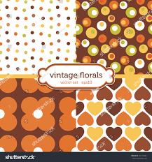 set seamless retro background patterns vintage stock vector