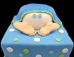 blue theme bum baby shower cake customized cakes order online