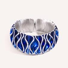 blue diamond bracelet images Blue velvet titanium and diamond bracelet vhernier the jpg