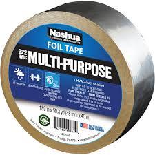 Home Hvac Duct Design Nashua Tape 1 89 In X 50 Yd 322 Multi Purpose Hvac Foil Tape