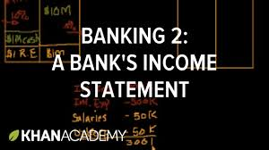 banking 2 a bank u0027s income statement youtube