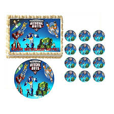 transformers cake toppers image topper your photo frame frosting transformers rescue bots characters edible cake topper