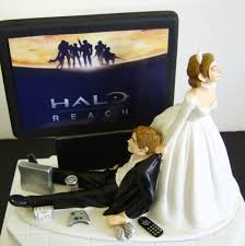 gamer wedding cake topper a groom customized wedding cake topper for gamers bloggedd