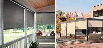 Solar Powered Window Blinds Solar Shades I Patio Sun Shades I Outdoor Curtains