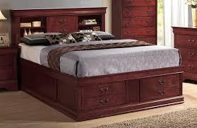 Leather Headboard King Bookcase Headboard King Size Bed 9170