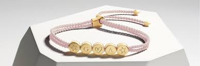Bracelet With Initials Introducing Linear Bead