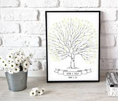 unique wedding gifts ideas printable wedding tree wedding tree poster wedding reception