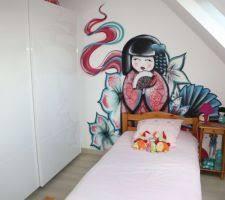 dessin mural chambre photos et idées chambre d enfant avec dessin mural ou graph 33